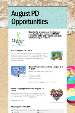 August PD Opportunities