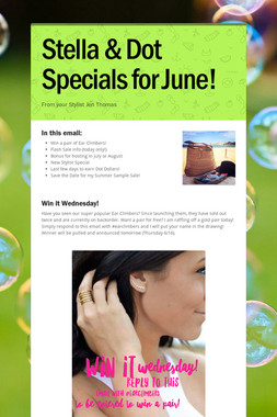 Stella & Dot Specials for June!