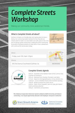 Complete Streets Workshop