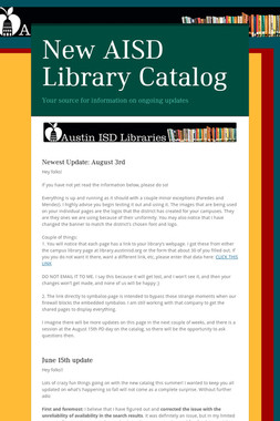 New AISD Library Catalog