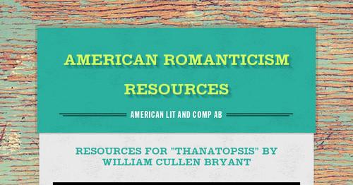 bryant thanatopsis summary