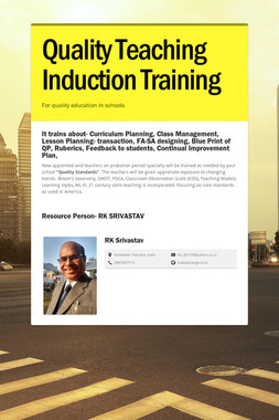 Quality Teaching Induction Training