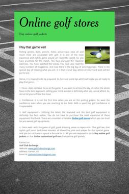 Online golf stores