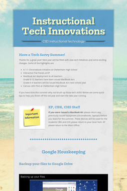 Instructional Tech Innovations