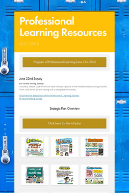 Professional Learning Resources