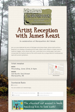 Artist Reception with James Keast