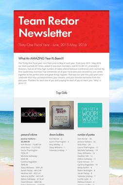 Team Rector Newsletter