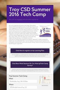 Troy CSD Summer 2016 Tech Camp