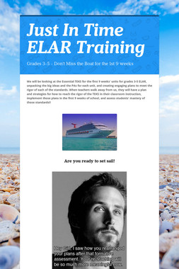 Just In Time ELAR Training