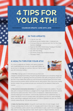 4 Tips for Your 4th!