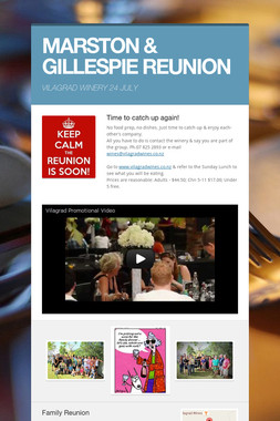 MARSTON & GILLESPIE REUNION