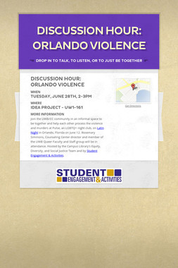 Discussion Hour: Orlando Violence