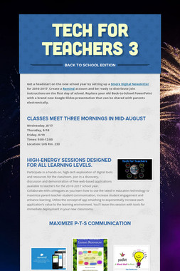 Tech For Teachers 3