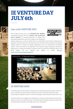 IE VENTURE DAY JULY 6th