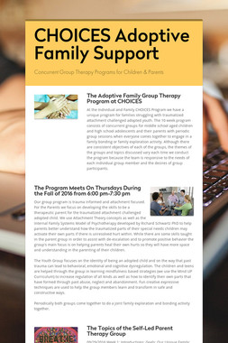 CHOICES Adoptive Family Support