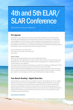 4th and 5th ELAR/ SLAR  Conference