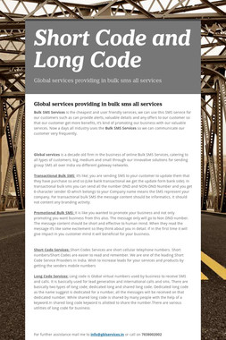 Short Code   and  Long Code