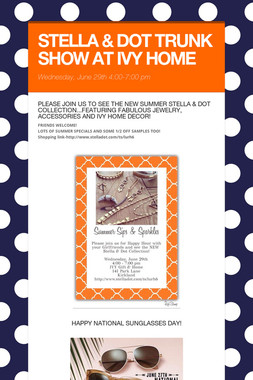 STELLA & DOT TRUNK SHOW AT IVY HOME
