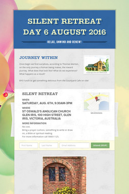 Silent Retreat Day 6 August 2016
