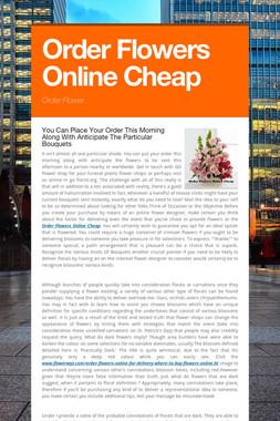 Order Flowers Online Cheap