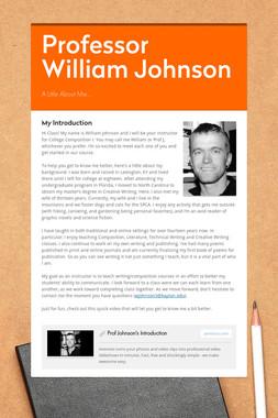 Professor William Johnson