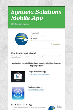 Synovia Solutions Mobile App