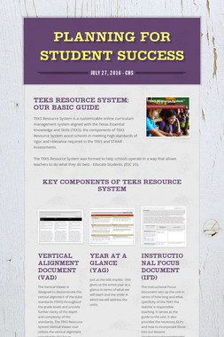 Planning for Student Success