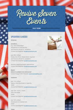 Revive Seven Events