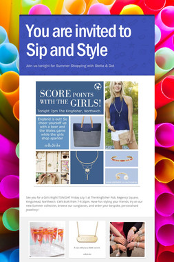 You are invited to Sip and Style