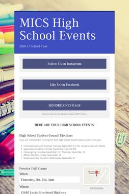 MICS High School Events