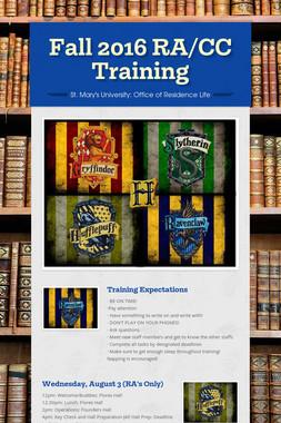 Fall 2016 RA/CC Training
