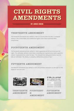 Civil Rights Amendments