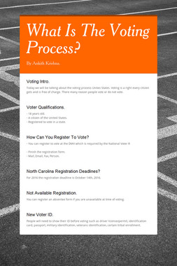 What Is The Voting Process?