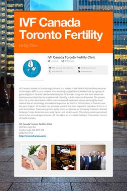 IVF Canada Toronto Fertility