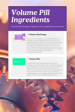 Volume Pill Ingredients