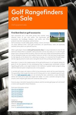 Golf Rangefinders on Sale