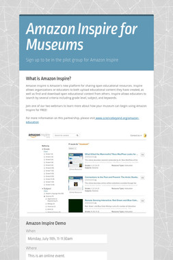 Amazon Inspire for Museums