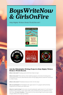 BoysWriteNow & GirlsOnFire