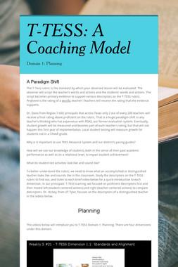 T-TESS:  A Coaching Model