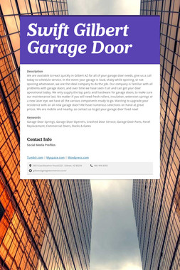 Swift Gilbert Garage Door