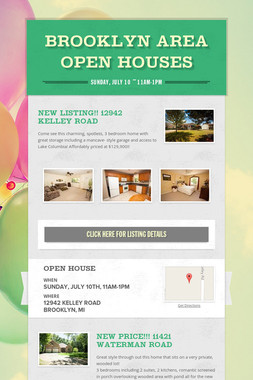Brooklyn Area Open Houses