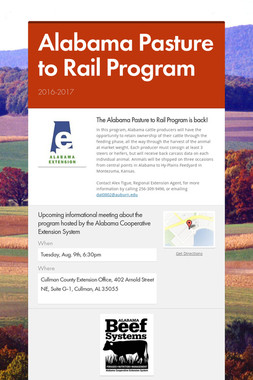 Alabama Pasture to Rail Program