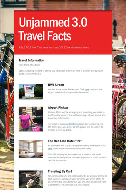 Unjammed 3.0 Travel Facts