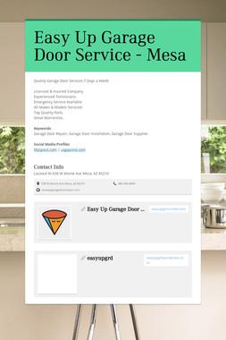 Easy Up Garage Door Service - Mesa