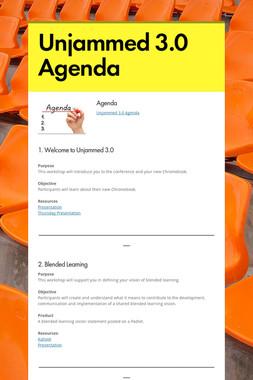 Unjammed 3.0 Agenda