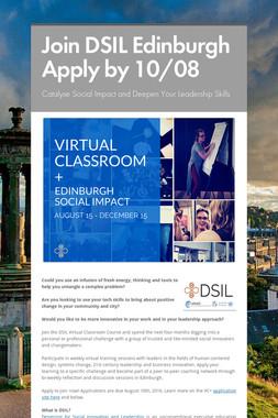 Join DSIL Edinburgh  Apply by 10/08