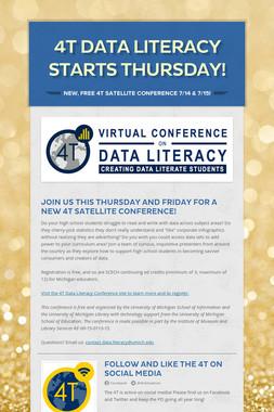 4T DATA LITERACY STARTS THURSDAY!