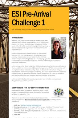 ESI Pre-Arrival Challenge 1