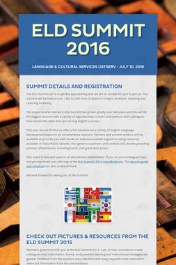 ELD Summit 2016