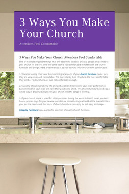 3 Ways You Make Your Church
